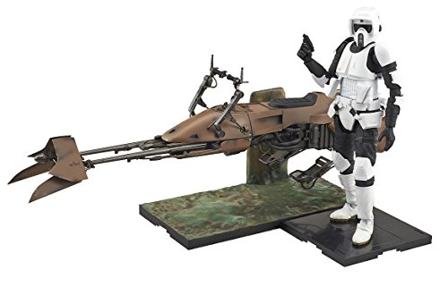 (Bandai Hobby Star Wars 1/12 Scout Trooper & Speeder Bike Star Wars )