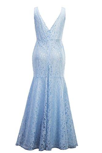 Lungo Mercato Donne Da Vestiti Sera Elegante Blu A Formale Delle Butalways Ballo Sirena Luce Pizzo Buon Abito Di xffPYzpq