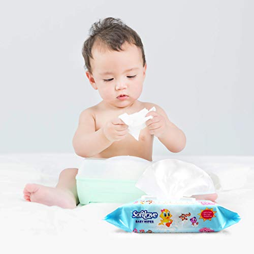 RONBEI Baby Wipes, Unscented Infant Wipes,12 Pop-Top Packs of 80 (960 Count) Moist Newborn Diaper Wipes for Baby