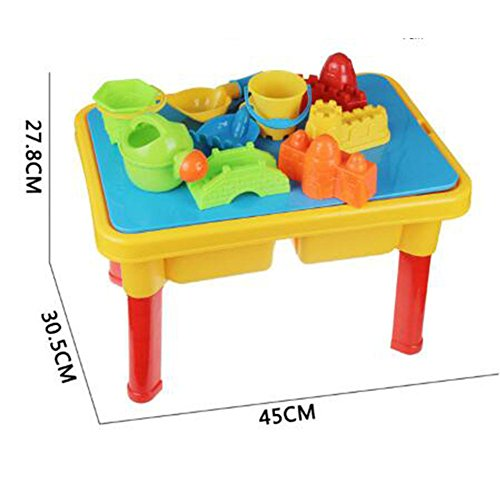 WALLER PAA 11pcs Kids Children Beach Toy Set Sand Water Table Platform Play Bucket Toys by no!no!