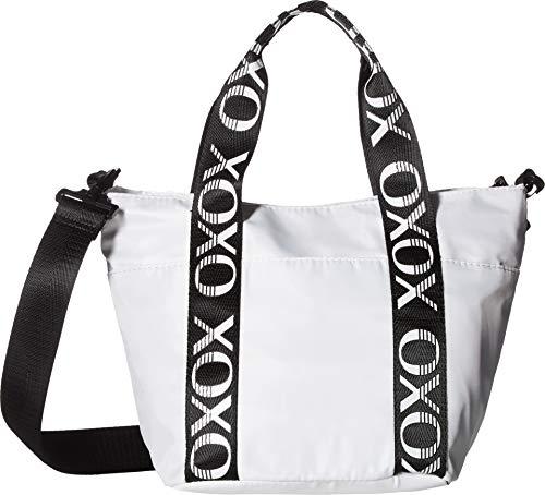XOXO Womens Sport Tote w/Logo Webbing White One Size ()