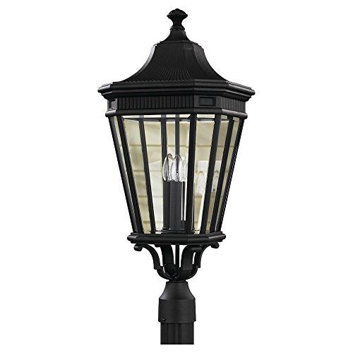 Price comparison product image Feiss OL5408BK,  Cotswold Lane,  Post Lighting,  3 Lights,  180 Watts,  Black