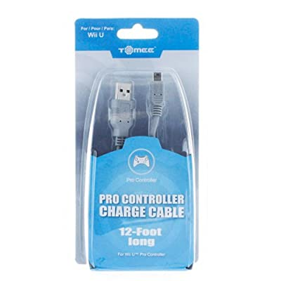 Wii U Tomee Pro Controller 12 Feet Charge Cable