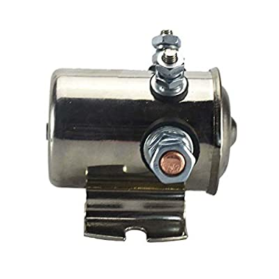 Continuous Solenoid Relay Fits 3 Terminal Heavy Duty Winch Marine 15-139,71580-75 200Amp 12VDC: Automotive