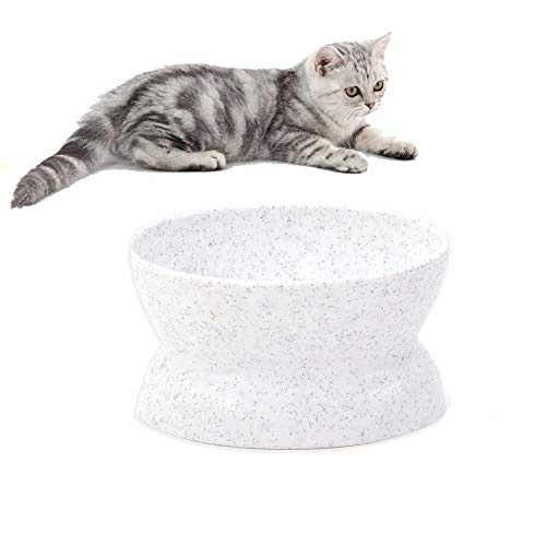 Lovinouse Upgraded Raised Cat Food Bowl, Stress Free Cats Water Bowl, Backflow Prevention, Easy to Clean, Slanted Double…