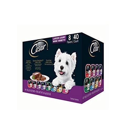 3 X Cesar Canine Cuisine Wet Dog Food, Variety Pack (3.5 oz., 40 ct.) by Cesar