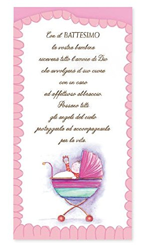 Biglietto Augurale Portasoldi Di Battesimo Completo Di Busta