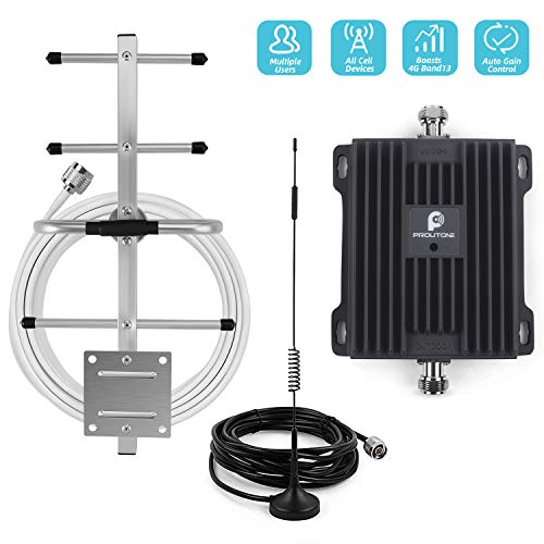 Cell Phone Signal Booster Repeater for Verizon 4G LTE Home Use - Boost Mobile Phone Data Signal by 700MHz Band 13 Amplifier Kit with Omni/Yagi Antennas (Best 4g Signal Booster App)
