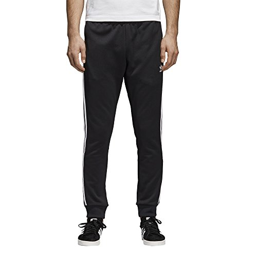 Slim Track - adidas Men's Originals Superstar Track Pants,  Black, Medium