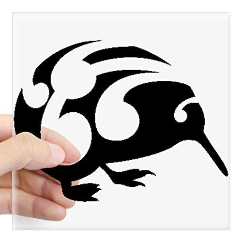 CafePress Koru Kiwi New Zealand Design Sticker Square Bumper Sticker Car Decal, 3