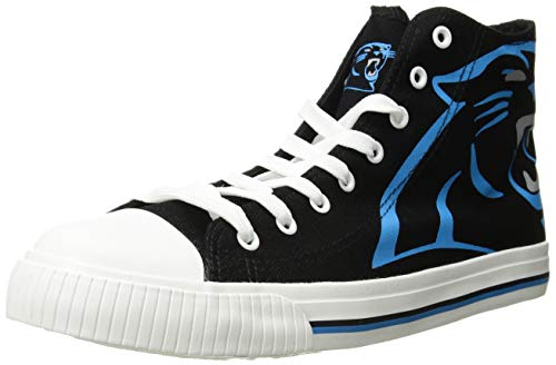 (FOCO NFL Carolina Panthers Men's High Top Big Logo Canvas Footwear, Team Color, X-Small)