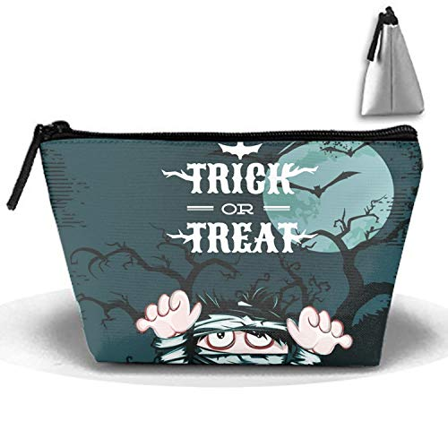 Halloween Mummy Cosmetic Bags with Makeup Case Multi Functional Makeup Handbag for Travel & Home Gift ()