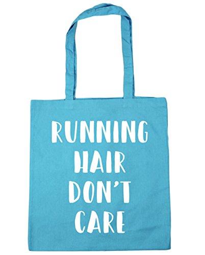 HippoWarehouse Don 't care de pelo de running bolsa de la compra bolsa de playa 42cm x38cm, 10litros azul (Surf Blue)