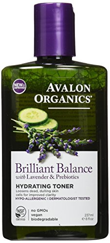 Avalon Organics Brilliant Balance with Lavender & Prebiotics Hydrating Toner, 8 Ounce