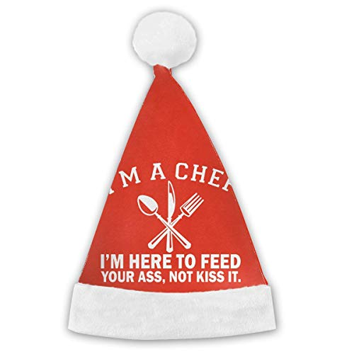 I'm A Chef Here to Feed Your Ass Not Kiss It Halloween Customes Hat,Christmas Hat Velvet Santa Party Hats -