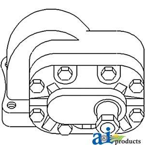 Case IH Tractor Economy Hydraulic Pump 12 GPM MCV Part No SW03806 120114C91-E