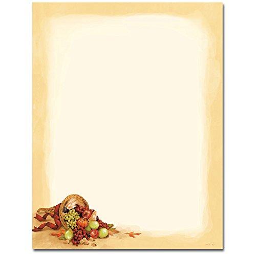 Thanksgiving Cornucopia Letterhead & Printer Paper