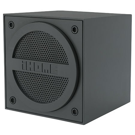 iHome Bluetooth Rechargeable Mini Speaker Cube, Gray