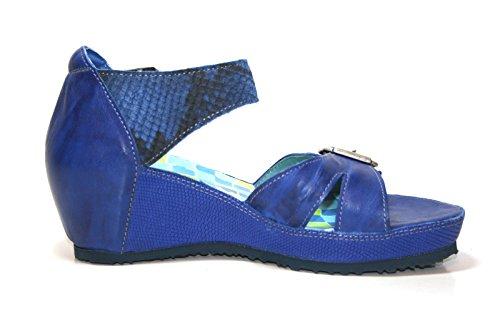 Think! - Sandalias de vestir de Piel para mujer azul azul 21.5, color azul, talla 38 EU