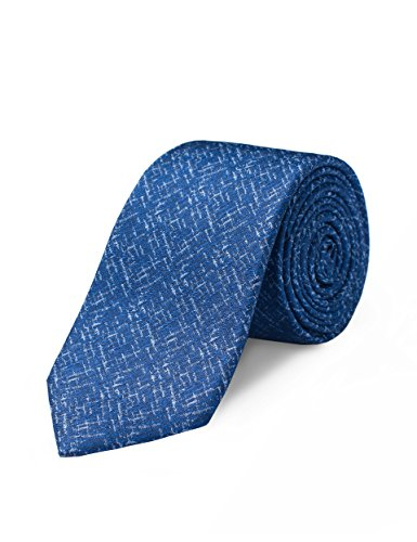 - Origin Ties Solid Men's 2.5-inch Handmade 100% Silk Skinny Tie Navy