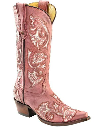 CORRAL Women's Floral Embroidered Cowgirl Boot Snip Toe