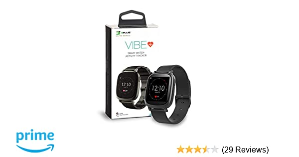 Amazon.com: 3Plus Vibe Activity Tracker Smart Watch with Heart Rate Monitor, Calorie Counter, Pedometer for Android & iOS in Black: Cell Phones & ...