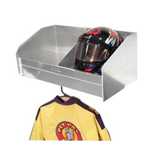 Pit Pal Products 331 28.25'' x 15'' x 12'' 2-Bay Helmet Shelf by Pit Pal Products