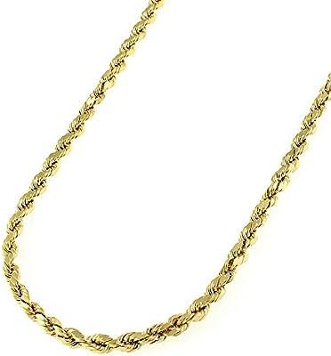 a0732c84b082f 14K Yellow Gold 2.5mm Solid Rope Diamond-Cut Braided Link Twist ...