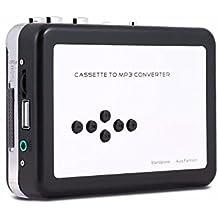 KINGEAR Cassette Player Tape to MP3 Converter Retro Walkman Auto Reverse Portable Audio Tape Player with Earphones, No Need Computer