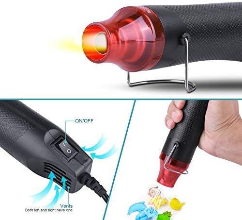 NOUVCOO D/écapeur Thermique,Mini Pistolet /à Air Chaud 300W Rouge