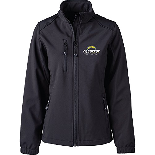 San Womens Chargers Diego (Dunbrooke Apparel NFL San Diego Chargers Women's Softshell Jacket, Large, Black)