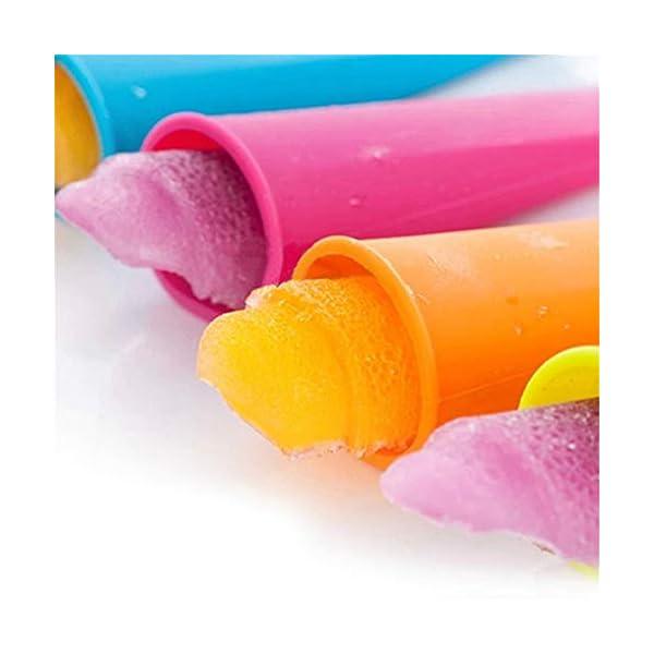 WESEEDOO Stampi per ghiacciolo e Gelato Stampi Pop per Gelato Silicone Coperchi Rimovibili per congelatore con i… 4 spesavip