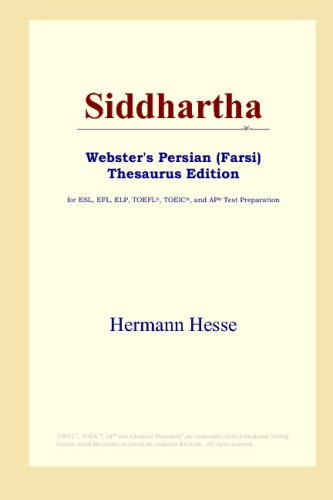 Siddhartha Websters Persian Farsi Thesaurus Edition Hermann Hesse Books