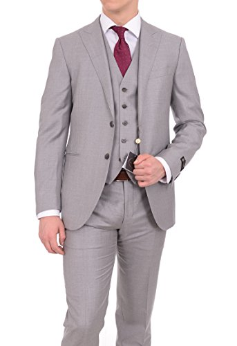 corneliani-leader-42r-52-drop-8-gray-three-piece-wool-silk-suit-with-peak-lapels