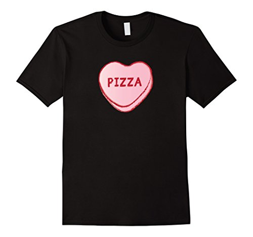 Candy White T-shirt (I Love Pizza   Sweet Candy Hearts Valentines Tee Shirt)