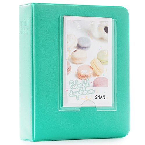 CAIUL Compatible 64 Pockets Candy Color Book Album for Fujifilm Instax Mini 8 8+ 9 70 7s 90 25 26 50s Films (Mint)