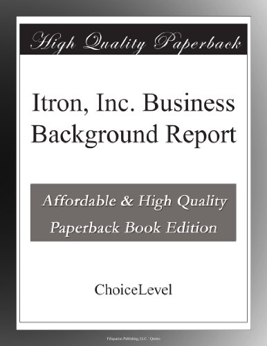 Itron  Inc  Business Background Report