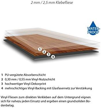 Nuez 2,61 m/² mit Microfase Designboden Vinyl Galant Vinylboden zum Klicken 1 Paket 4,5 mm St/ärke waterproof 0,30 mm Nutzschicht