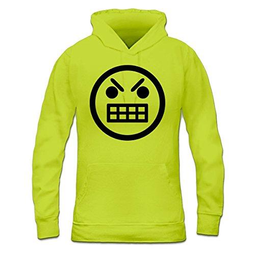 Sudadera con capucha de mujer Mad Smiley by Shirtcity verde limón