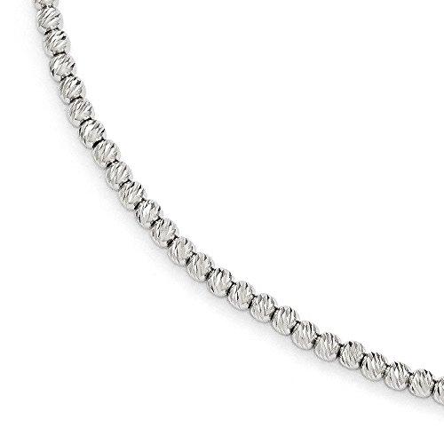 Bracelet de Perles en Or Blanc 14Carats-20cm