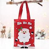 Creazy Candy Bag, Christmas Decorations Xmas Snowman Apple Bag Christmas Eve Apple Bag (B)