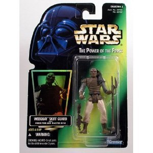 Star Wars, The Power of the Force Green Card, Weequay Skiff Guard Action Figure, 3.75 Inches (Star Wars Jedi Force)