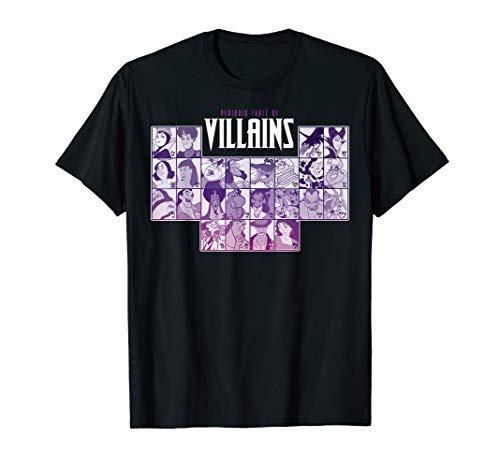 Disney Villains Periodic Table Of Villains Group Shot T-Shirt