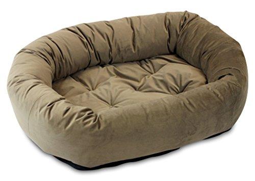 Oliver & Iris Bolster Donut Lounge Dog Bed, Large, Mocha by Oliver & Iris