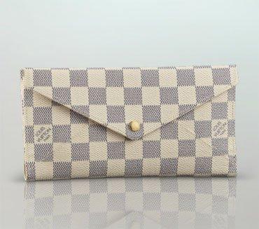 Louis Vuitton Handbag Damier Azur Canvas Long Wallet Origami N63098