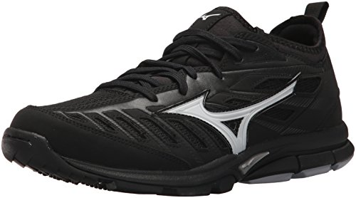 Mizuno Men's Players Trainer 2 Turf Baseball-Shoes,Black/Black,11 D US
