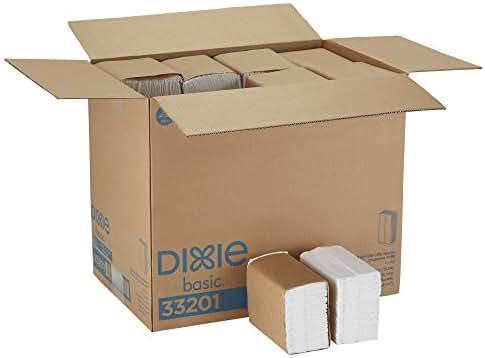 Dixie Basic Tall-Fold 1-Ply Dispenser Napkin Refill (Previously HyNap) by GP PRO (Georgia-Pacific), White, 33201, 250 Napkins Per Pack, 40 Packs Per Case