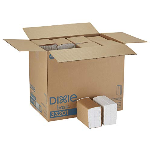 Dixie Basic Tall-Fold 1-Ply Dispenser Napkin Refill (Previously HyNap) by GP PRO (Georgia-Pacific), White, 33201, 250 Napkins Per Pack, 40 Packs Per Case]()