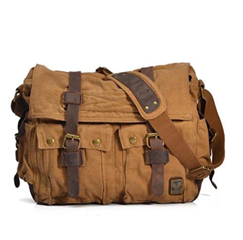 Leather Shoulder Bookbag Satchel Messenger product image
