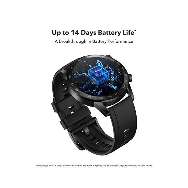 41 JJ3nDX7L HONOR Magic Watch 2 (46mm, Charcoal Black) 14-Days Battery, SpO2, BT Calling & Music Playback, AMOLED Touch Screen…